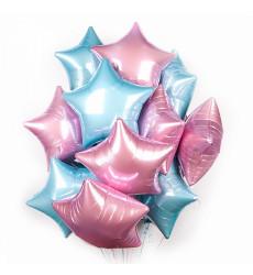 Набор из 25 розовых и голубых шаров в форме звезды «Навсегда»