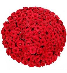 Букет из 365 красных роз «Любящее сердце»