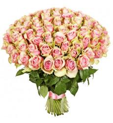 Букет из 101 розы розового цвета  «Жаклин »