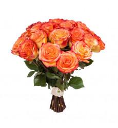 Букет из 15 оранжево-желтых роз «Магия любви»