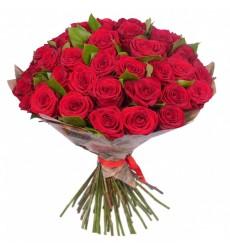 Букет из 35 красных роз Гран При «Страстный романс»