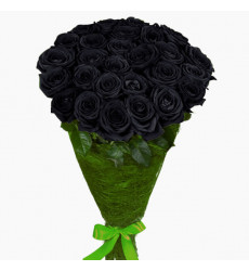Букет из 41 черной розы «Упоительная ночь»