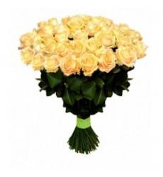 Букет из 41 розы кремового цвета «Сладкий сон »