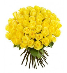 Букет из 51 желтой розы  «Солнышко мое»