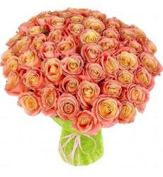 Букет из 51 розы Мисс Пигги «Розовый танец»
