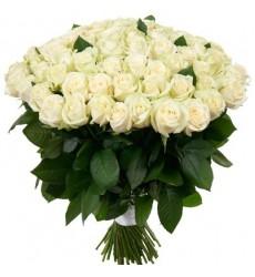 Букет из 101 белой розы «Жажда любви»