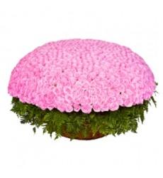 Корзина цветов с 301 розовой розой «По велению сердца»