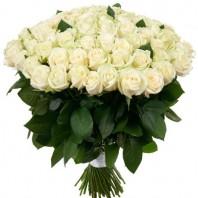 Букет из 101 белой розы «Ангельский лик»