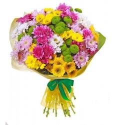 Букет из 19 кустовых хризантем «Мечтания»