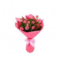 Букет  из 11 кустовых роз «Розовое чудо»