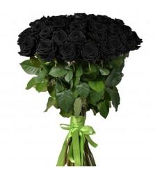 Букет из 49 чёрных роз «Ночная гостья»