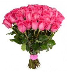 Букет  из 51 розы 90 см. «Озорной поцелуй»