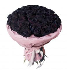 Букет из черных голландских роз  «Цвет ночи»