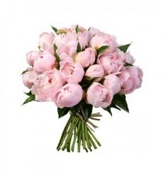 Букет из 39 розовых пионов «Великий Гэтсби»
