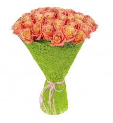 Букет из 39 роз Мисс Пигги  «Византия»