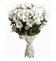 Букет из 11 кустовых хризантем «Поэзия весны»