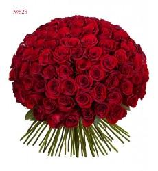 Букет из 101 красной розы «Бархатная любовь»