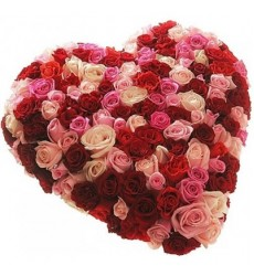 Цветочная композиция из 101 розы «Вместе и навсегда»