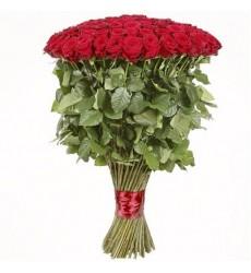 Букет из 101 метровой розы «Королева роз»