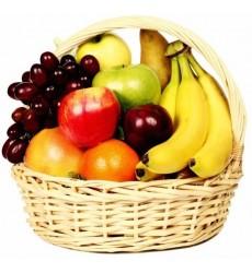 Фруктовая корзина с бананами и фруктами «Бразильянка»