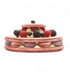 Торт из макарони и ягод «Ягодная сладость»