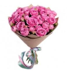 Букет из 19 кустовых пионовидных роз «Немного романтики»