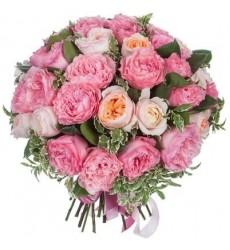 Букет из 29 розовых роз Дэвид Остин «Возлюбленный ангел»