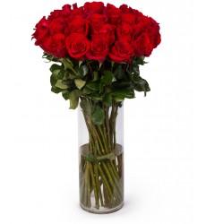 Букет из 35 красных роз «Донжуан»