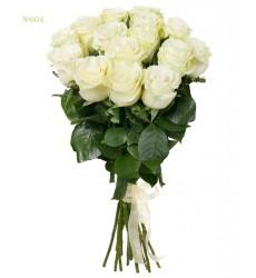 Букет из 15 белых роз «Кипенное сияние»