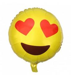 Воздушный шар смайлик «Влюблённые глаза»