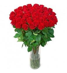 Букет из 45 метровых роз «Зов любви»