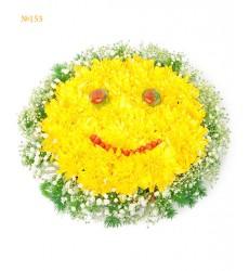 Цветочная композиция из 25 пионовидных роз «Смайл»
