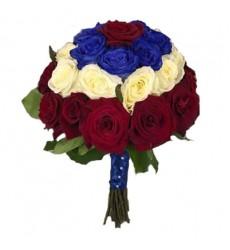Букет невесты из 31 розы «Всплеск шампанского»