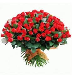 Букет из 101 красной розы «Любовная алхимия»