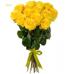 Букет из 15 жёлтых роз «Последний звонок»