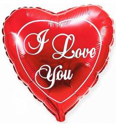 Шар в форме сердца «I love you»