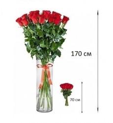 Букет из 11 красных роз «Истинная леди»