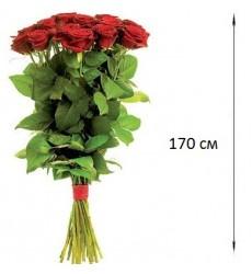 Букет из 9 красных роз «Гранатовый браслет»