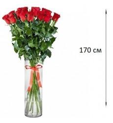 Букет из 5 красных роз  «Озорной поцелуй»