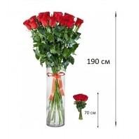 Букет из 21 красной розы  «Нити судьбы»