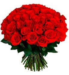 Букет из 59 красных роз «Амалия»
