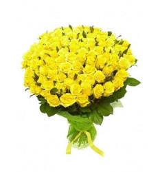 Букет из 101 розы желтого цвета  «Моника »