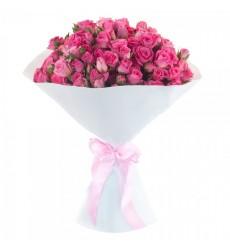 Букет из 15 кустовых роз Пинк Флэш «Рапунцель»