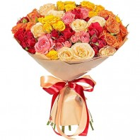 Букет из 15 кустовых роз «Милая моя»