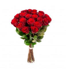 Букет из 18 красных роз  «Конфесса »