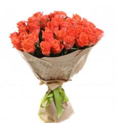 Букет из 23 коралловых роз  «Красное море »