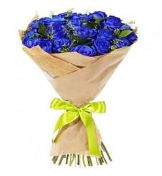 Букет из 25 синих роз «Глубокая синева»
