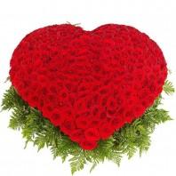 Корзина цветов с 301 красной розой «Разговоры о любви»