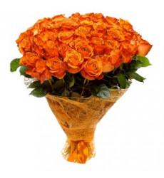 Букет из 43 роз оранжевого цвета  «Солнечный день »