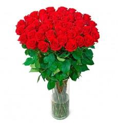 Букет из 49 красных роз  «Шёлковое сердце»